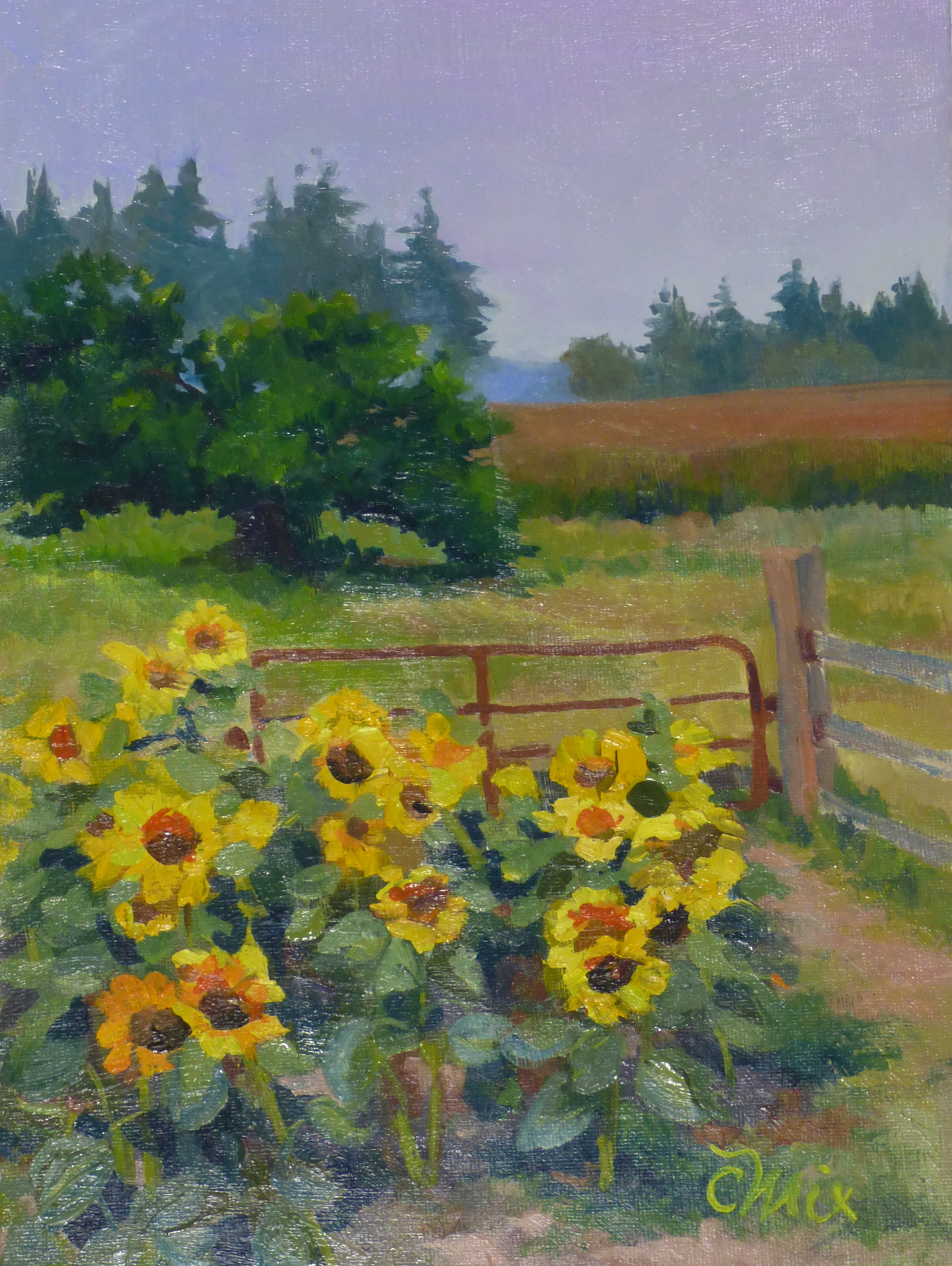 Sunflowers and Chickens