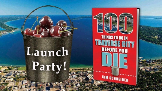 April 7, 3-6 p.m.  Brilliant Books: 118 E. Front St., Traverse City Event features samples from spots showcased in the books, prize giveaways, tastings, signings, more.   https://www.brilliant-books.net/event/launch- party-100- things-do- traverse-city- you-die