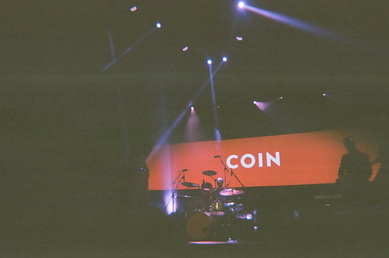 COIN performing at Volapalooza.