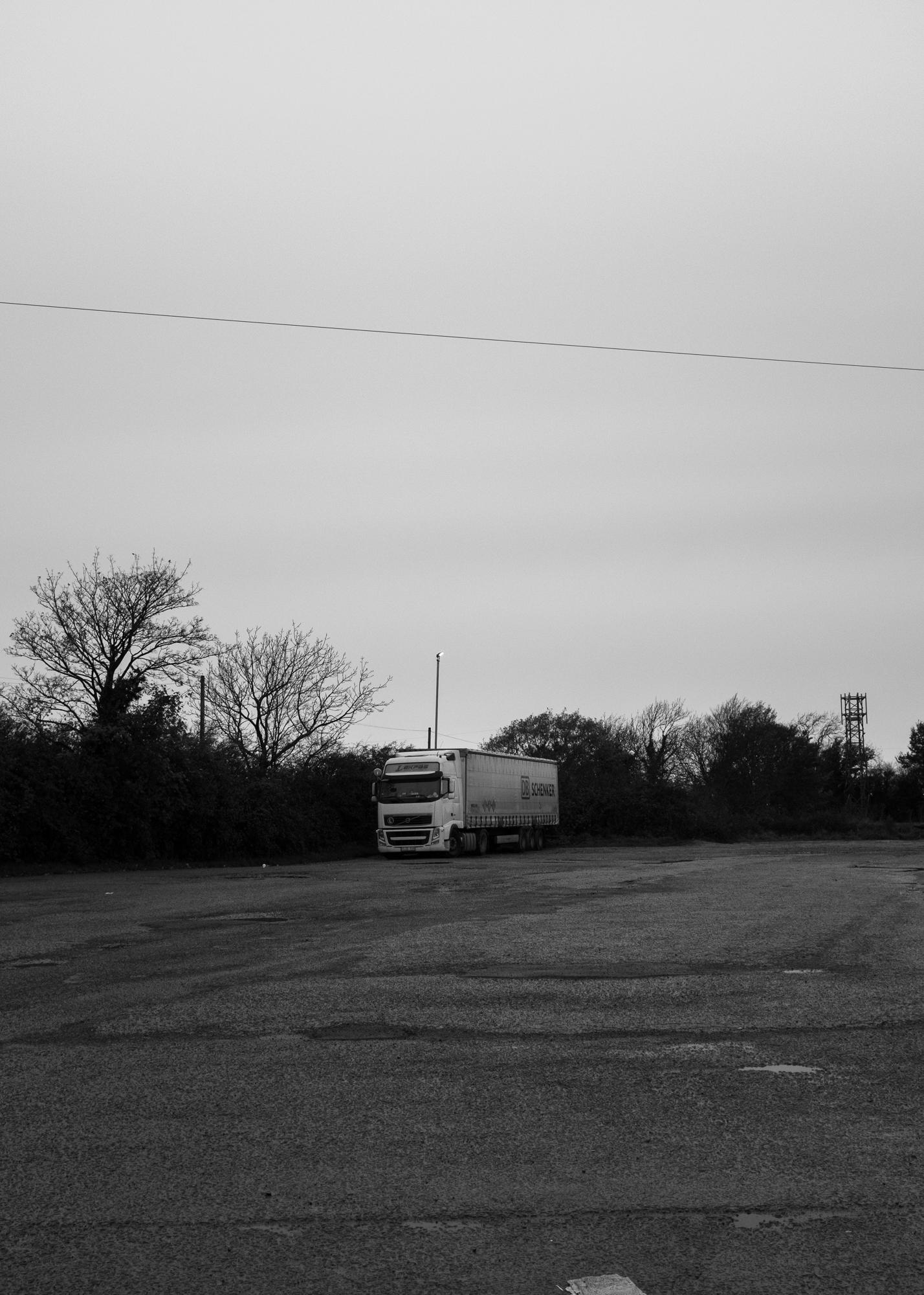 Truck stop. Republic of Ireland.