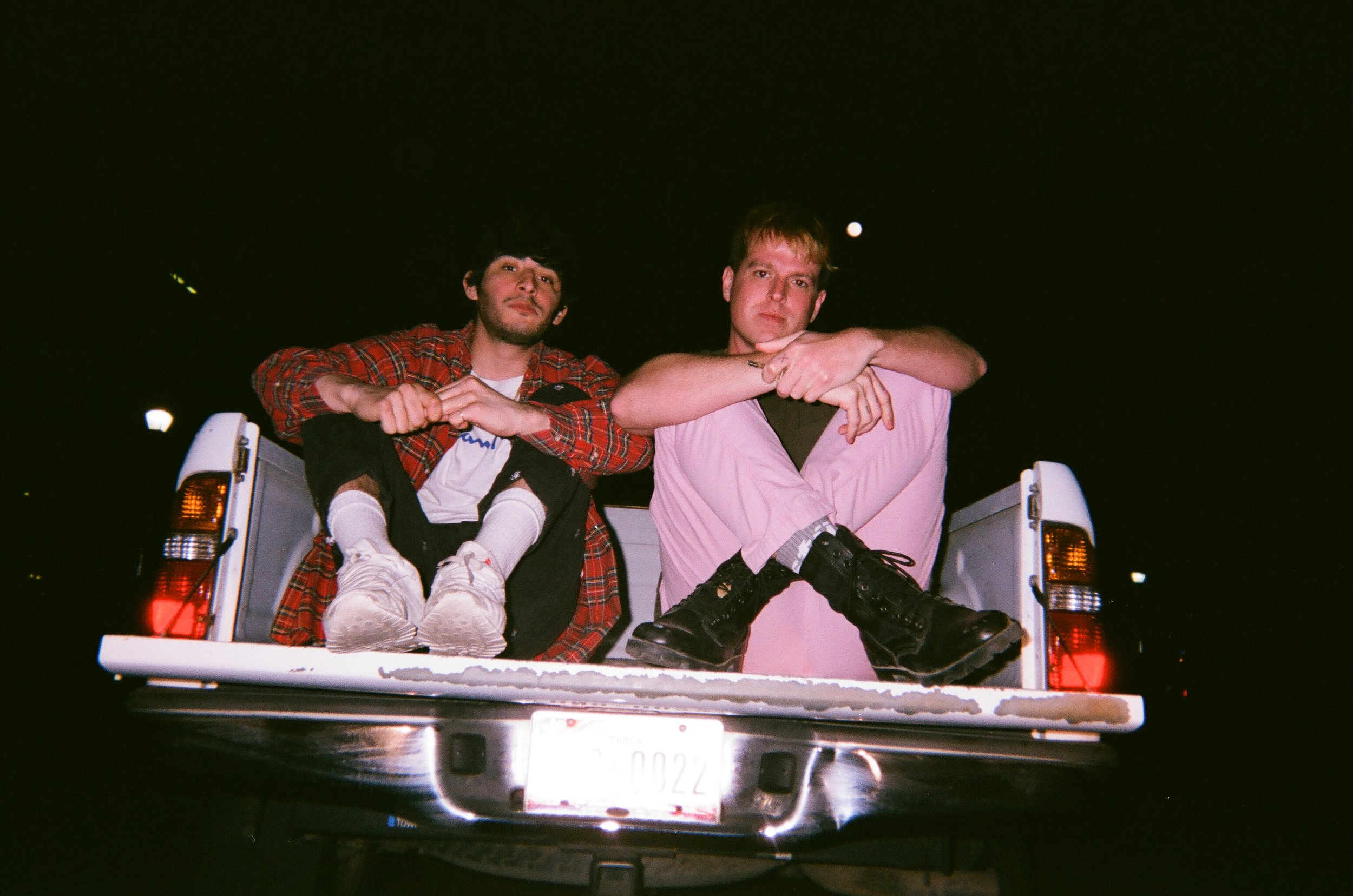 Dylan and myself in the back of the truck we drove around in for SXSW. Can't wait til next year.