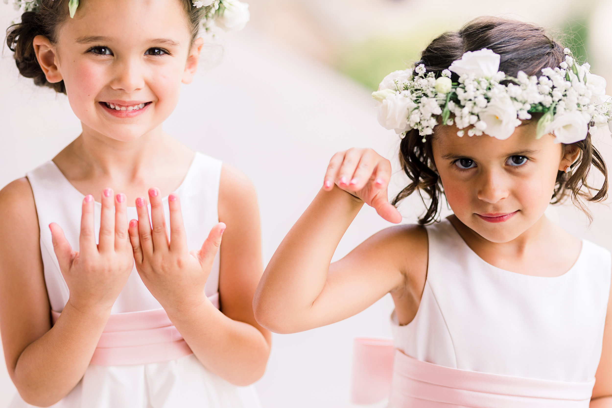 How sweet are these two??? The flower girls and their crowns stole the show! (and of course the cute little ring bearer!) ADORABLE!!!