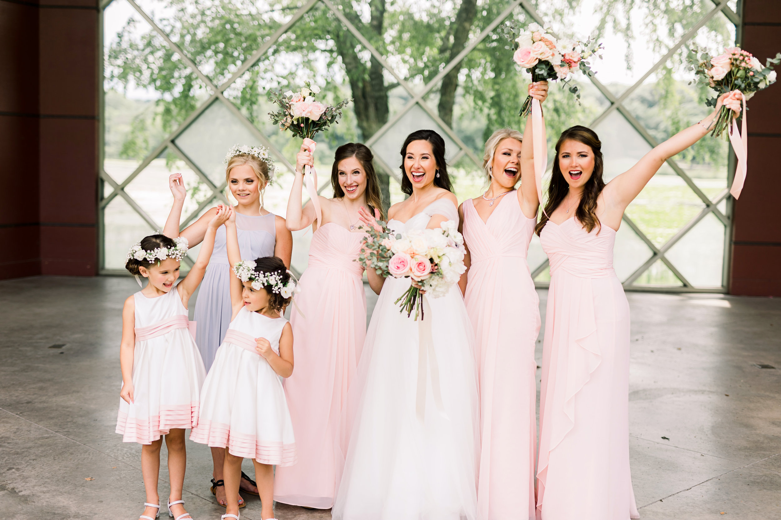 A Bride needs her Tribe. And this one is picture perfect!