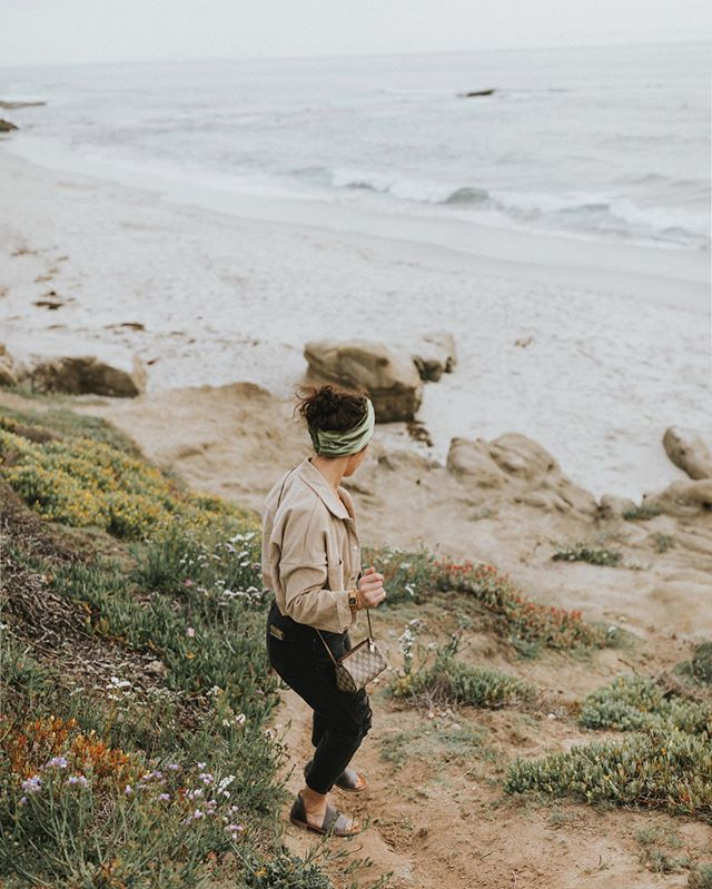 """I think sometimes we forget how easy we have it.. to be able to relive sweet memories by just swiping down on albums in our hands. Here I am, sitting on my phone trying to find a good picture to post and say """"placed another @im_with_the_band_headbands order blah blah"""" and BOOM.. I'm in #california with @maddiebroderick chasing sunsets and listening to @cherublamusica 'doses & mimosas' on repeat. Life is good, technology is weird, AND more headbands will be on their way shortly— amen. 🙏🏼"""