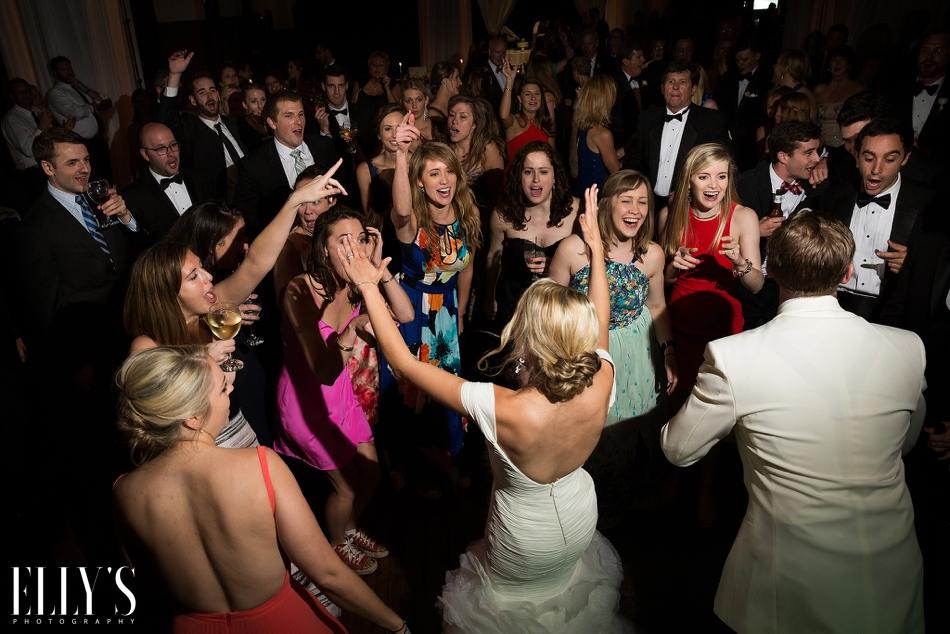 Millennium Center Wedding with Wake forest alumni