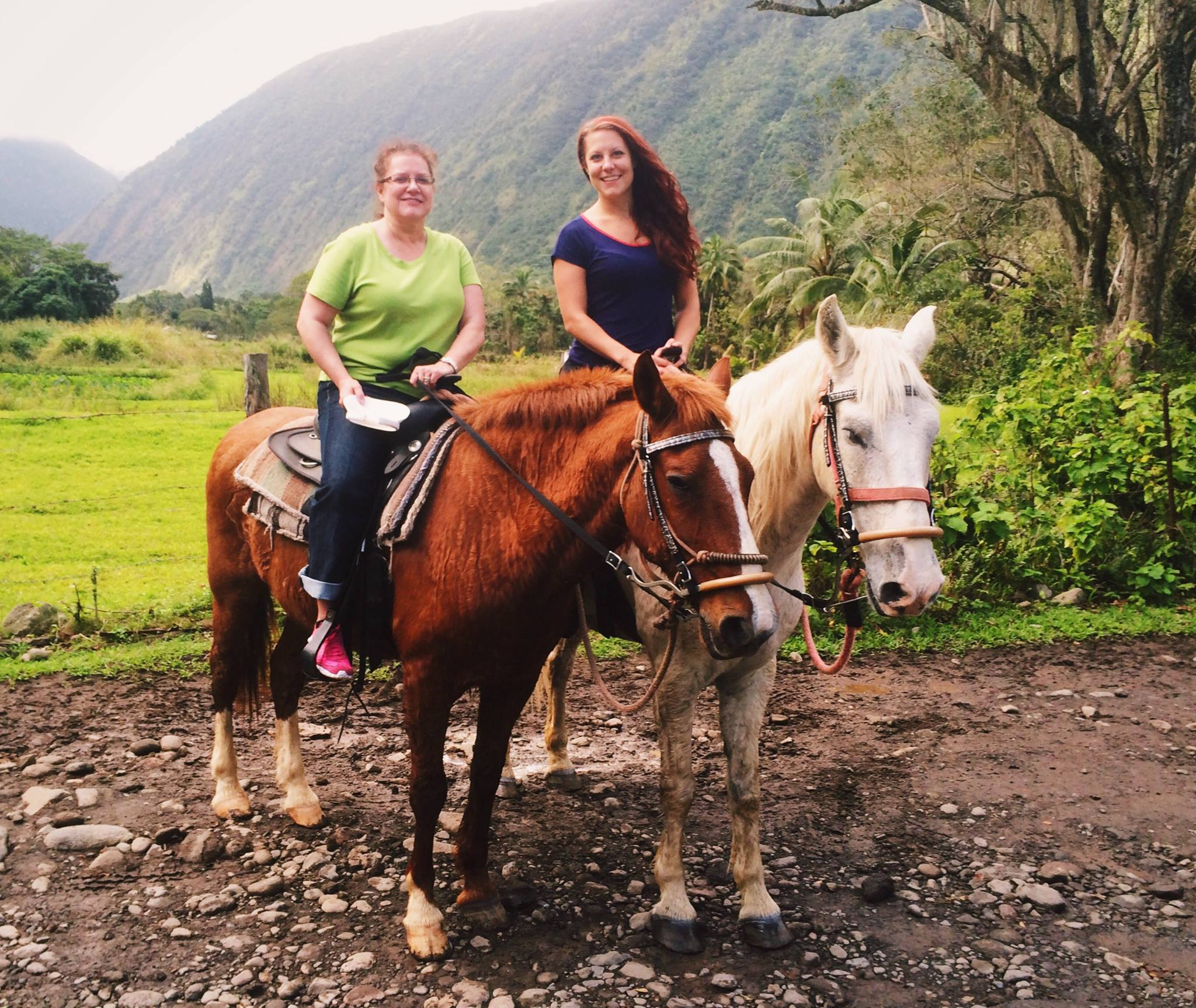 I love to travel! My mom and I riding horses in Waimea
