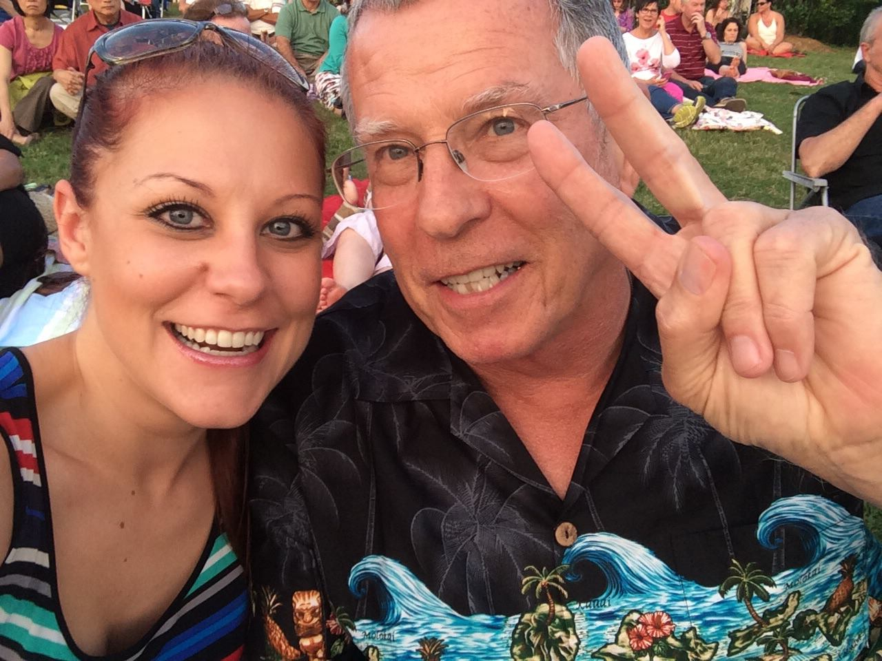My dad and I at a John Fogerty Concert in Charlotte