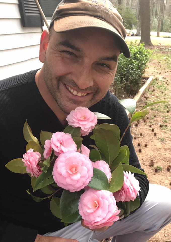 He picked me flowers!