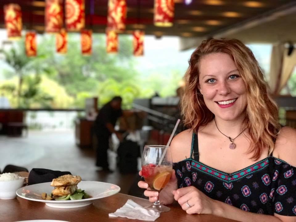 Sipping fancy cocktails in Hawaii