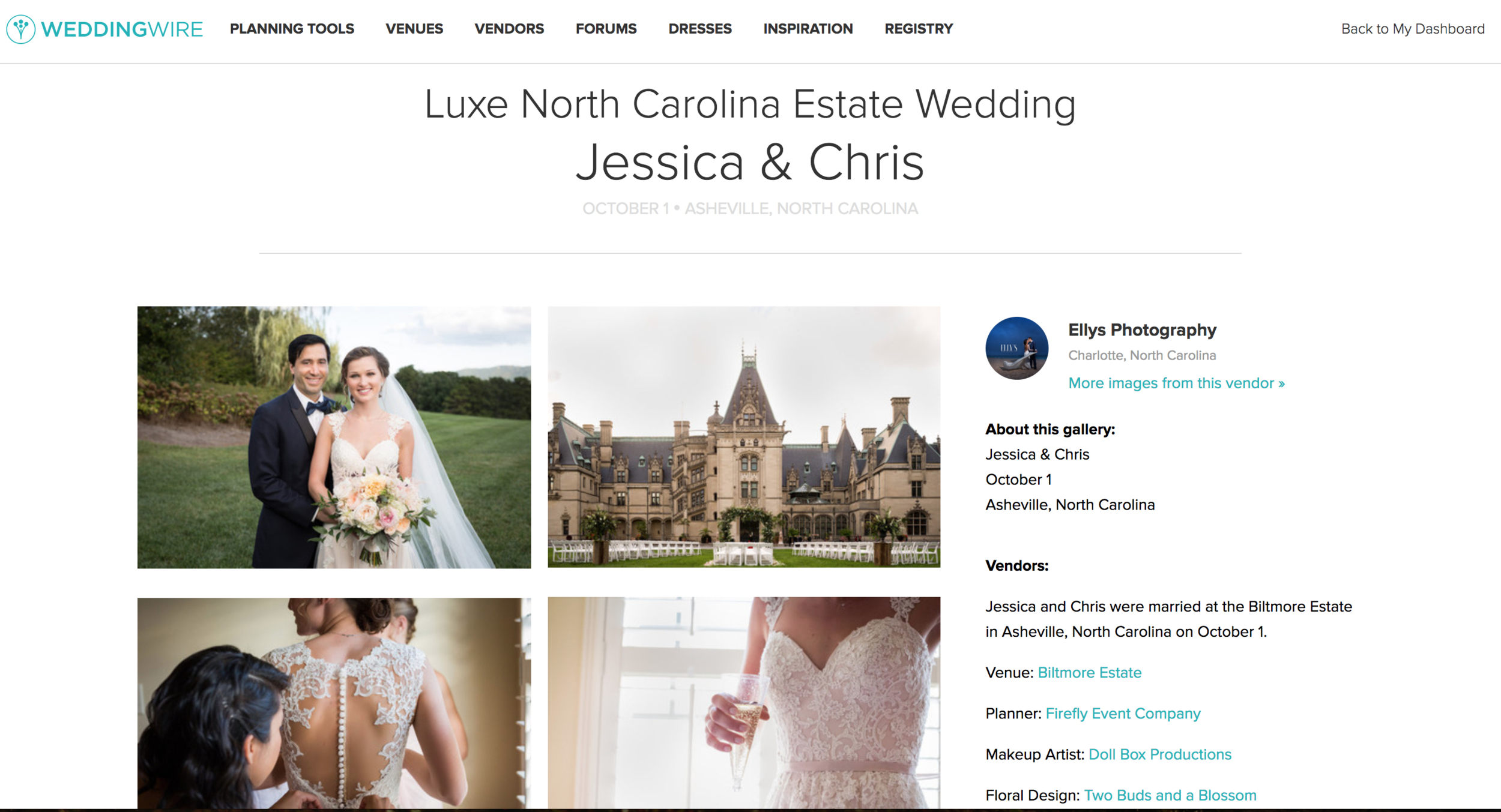 Click here to view their feature on WeddingWire!