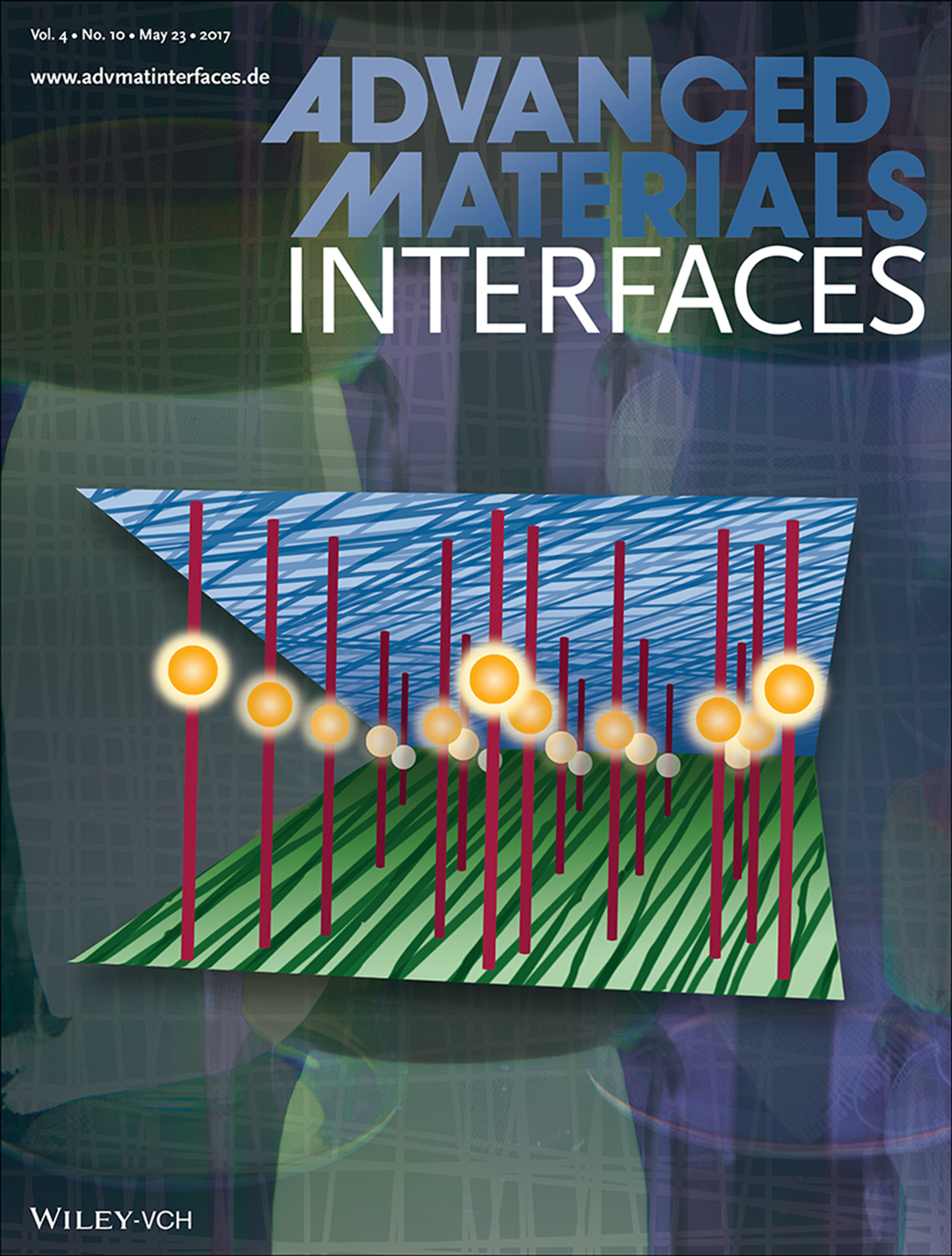 Work featured on cover of  Advanced Materials Interfaces 2017 .