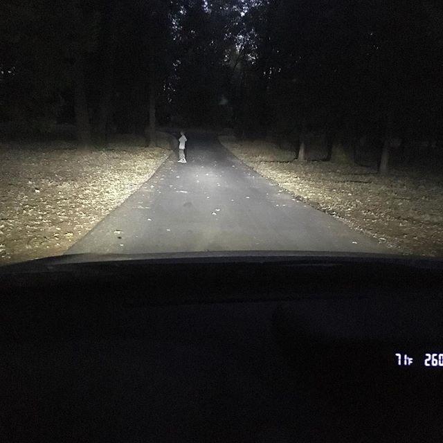 Fuego 2 - Headlight Test - Dark Road (Low Beams Only)