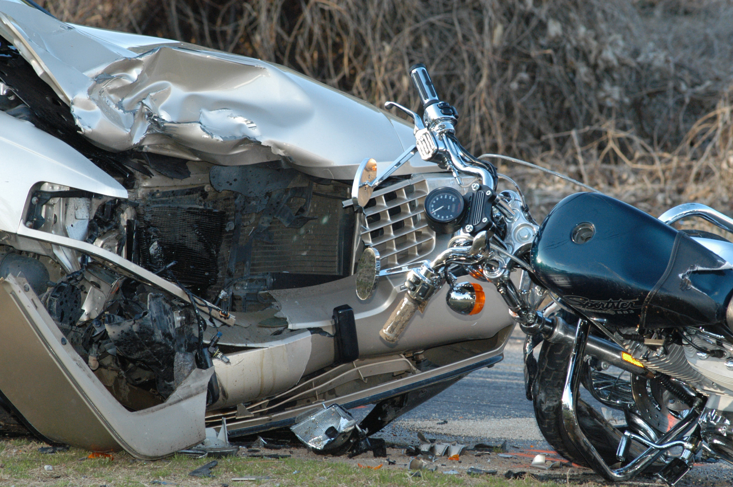 Car colliding with motorcycle motorcycle occupant needing a motorcycle or wrongful death attorney