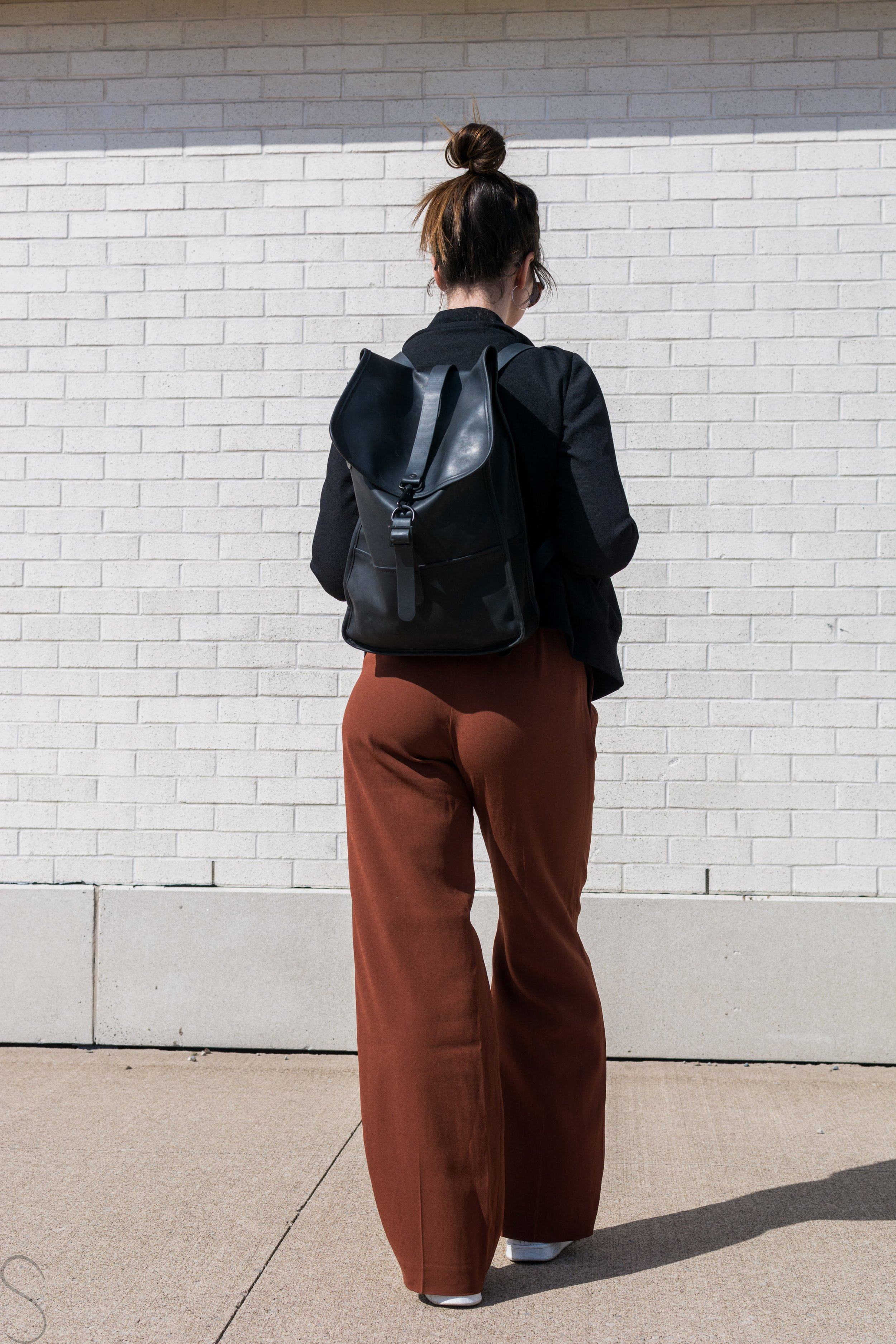 rust wide legged pants artizia
