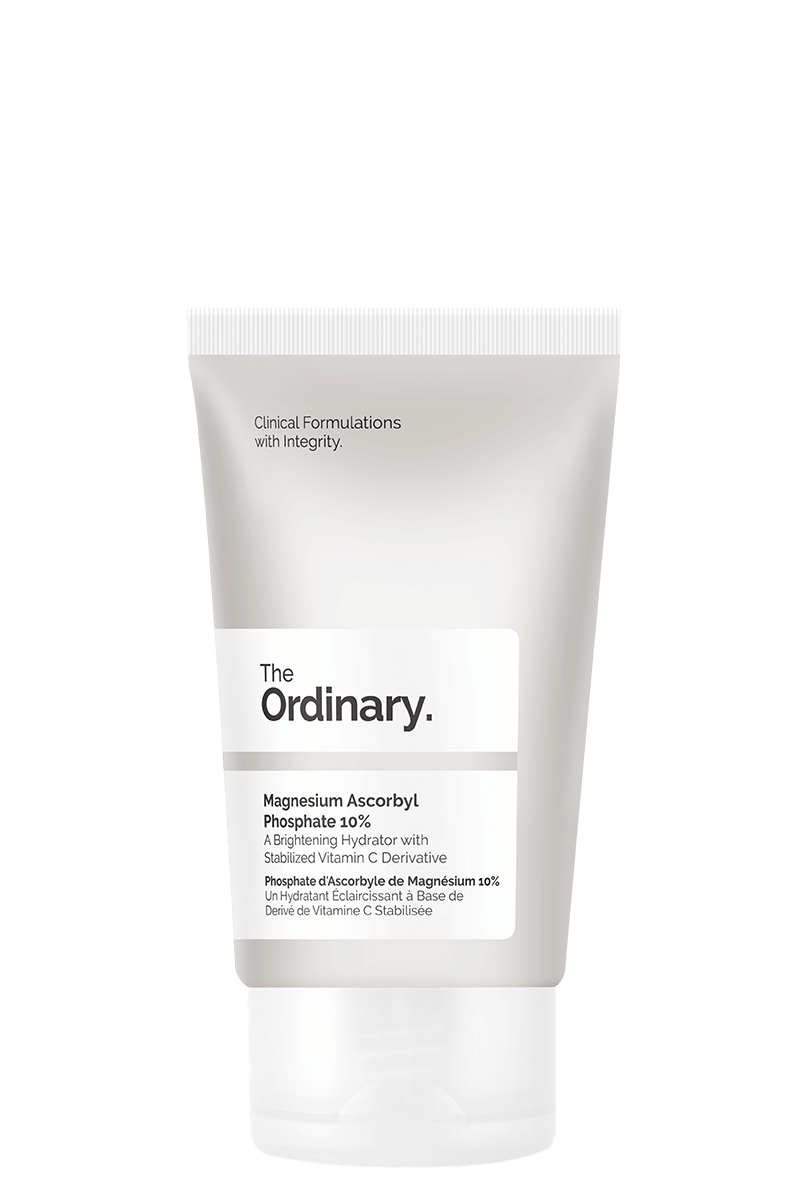 AM Step 2) The Ordinary Magnesium Ascorbyl Phosphate 10%  $9.60 CAD - Apply AM and PM after serums. A pure vitamin C-derivative cream works to brighten dull skin and even out the skintone.