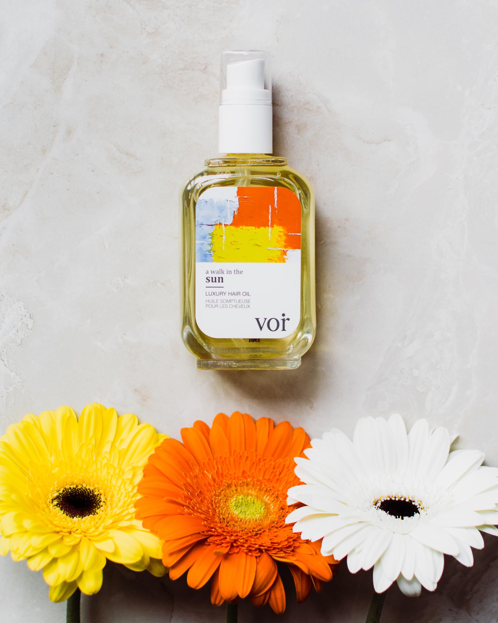 a walk in the sun luxury hair oil voir haircare toronto - style apotheca