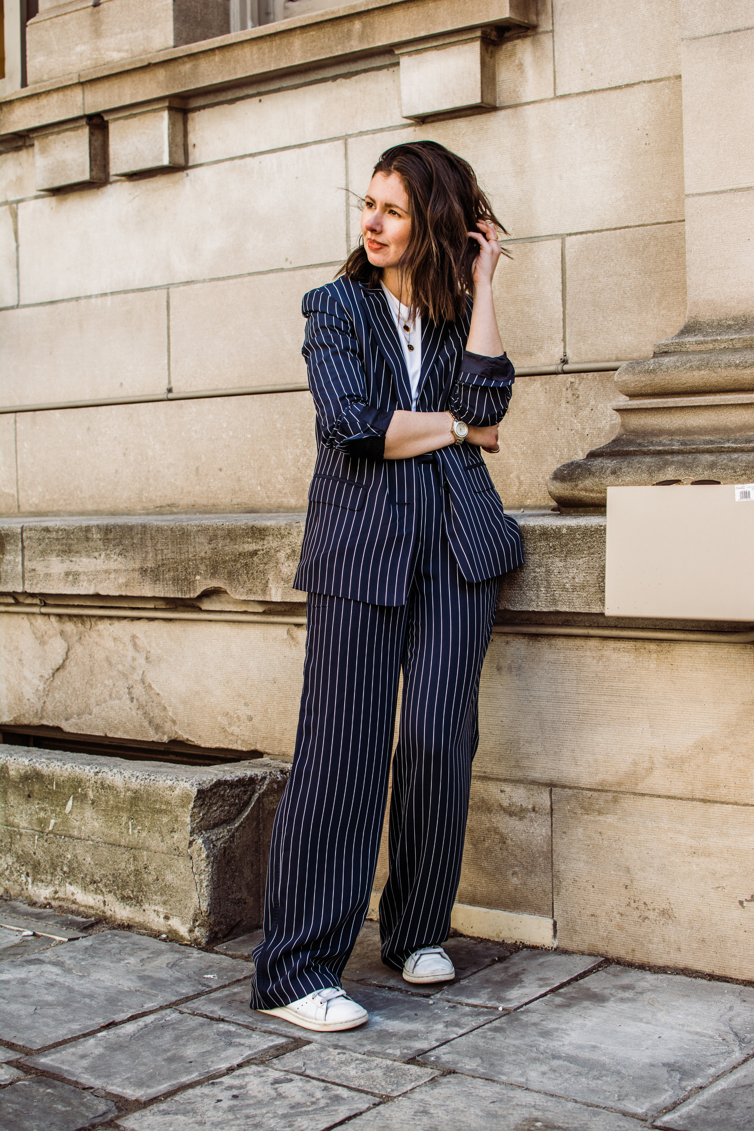 babaton striped suit aritzia matching suit outfit power suit outfit style apotheca