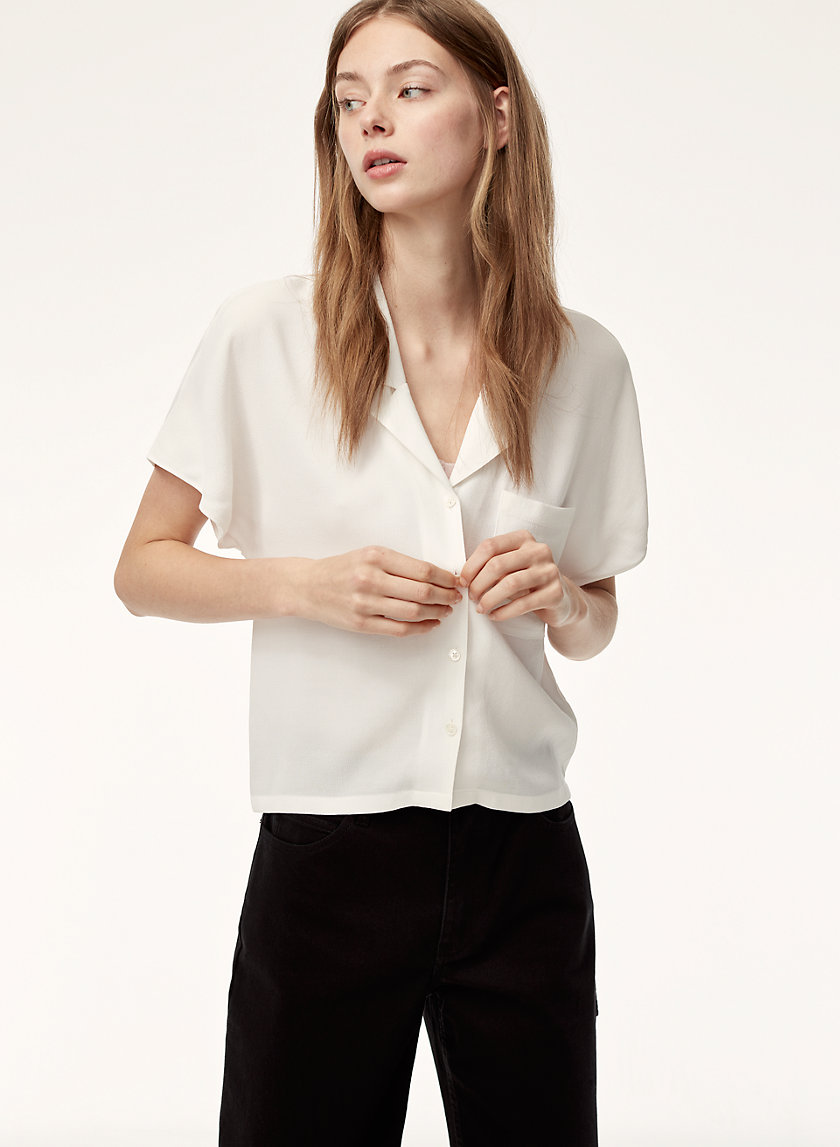 wilfred free aritzia shawna blouse xs
