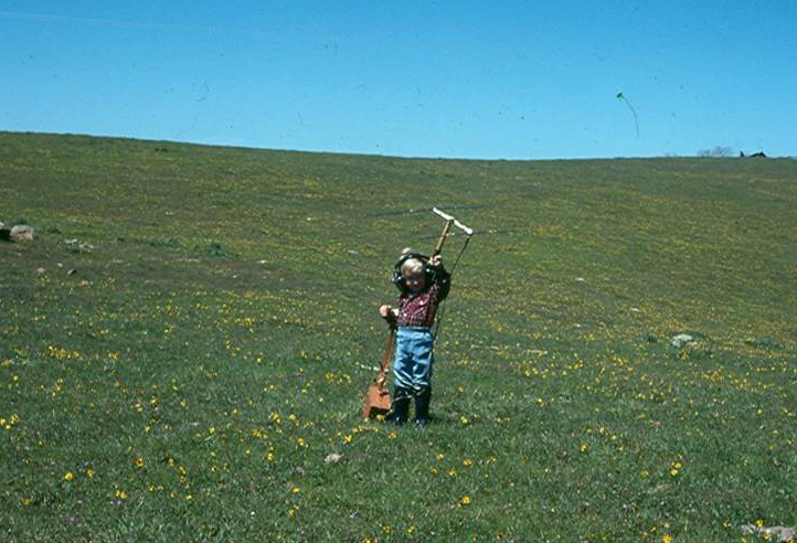 Me tracking Tule Elk with my mother at 5 years old.