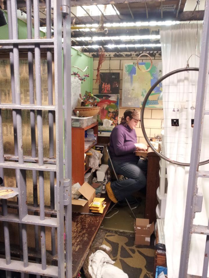 Mavis Smentkowski Farr artist in Residence in Jail Cell 2013.jpg