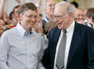 """Chuck has set an example...  He is my hero and Bill Gates' hero He should be everybody's hero.""  Warren Buffett"