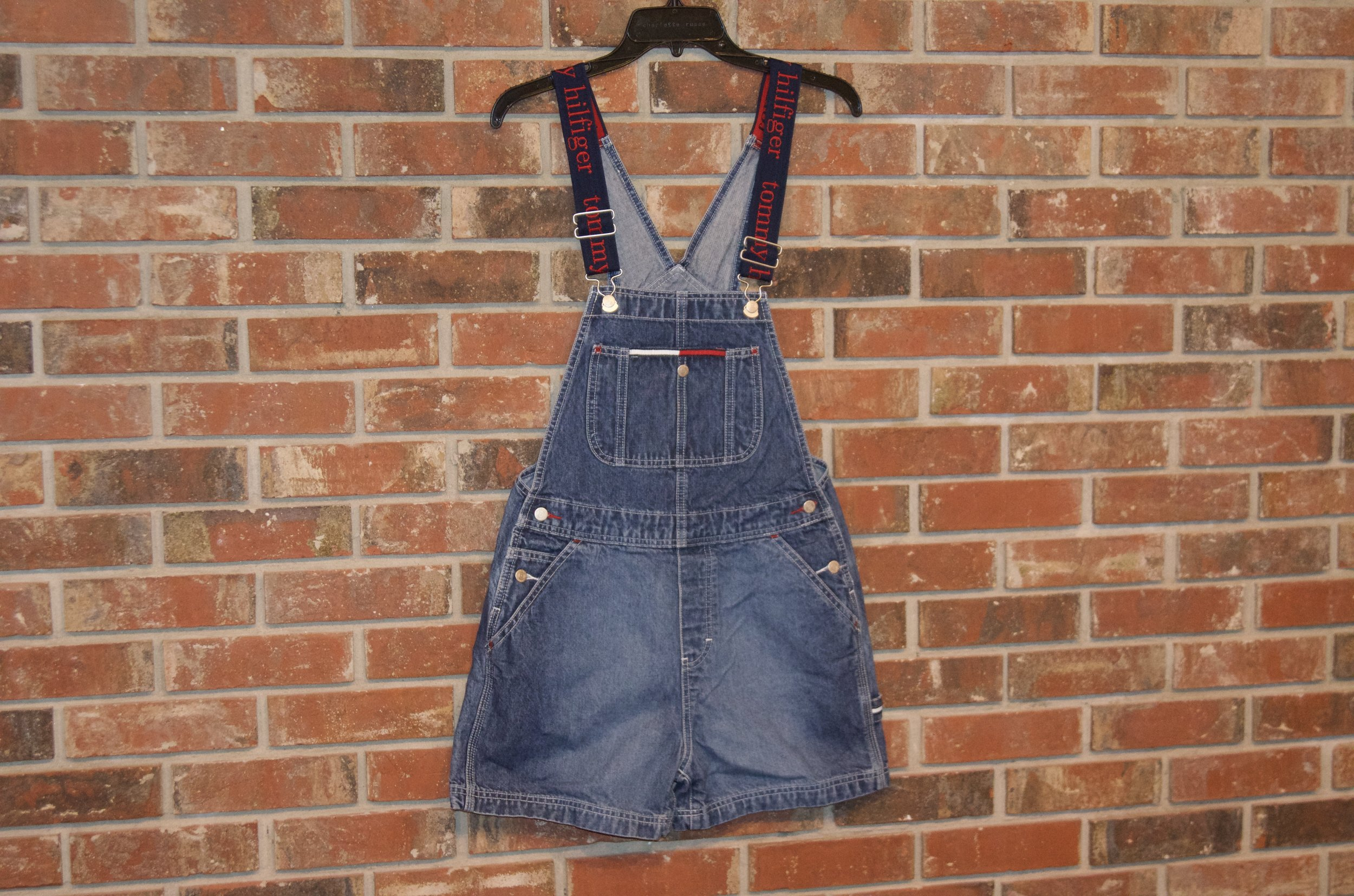 048e21f8 Deadstock Vintage Tommy Hilfiger Shorts Overalls (Ladies 3)