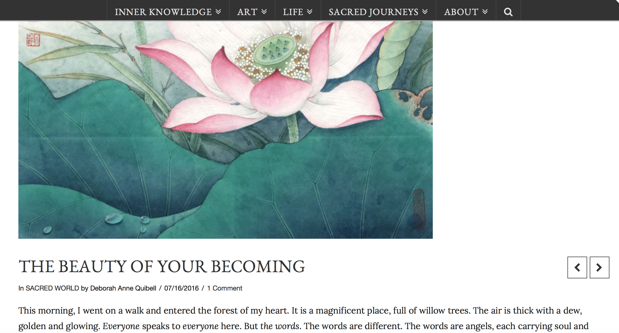 The Beauty of Your Becoming