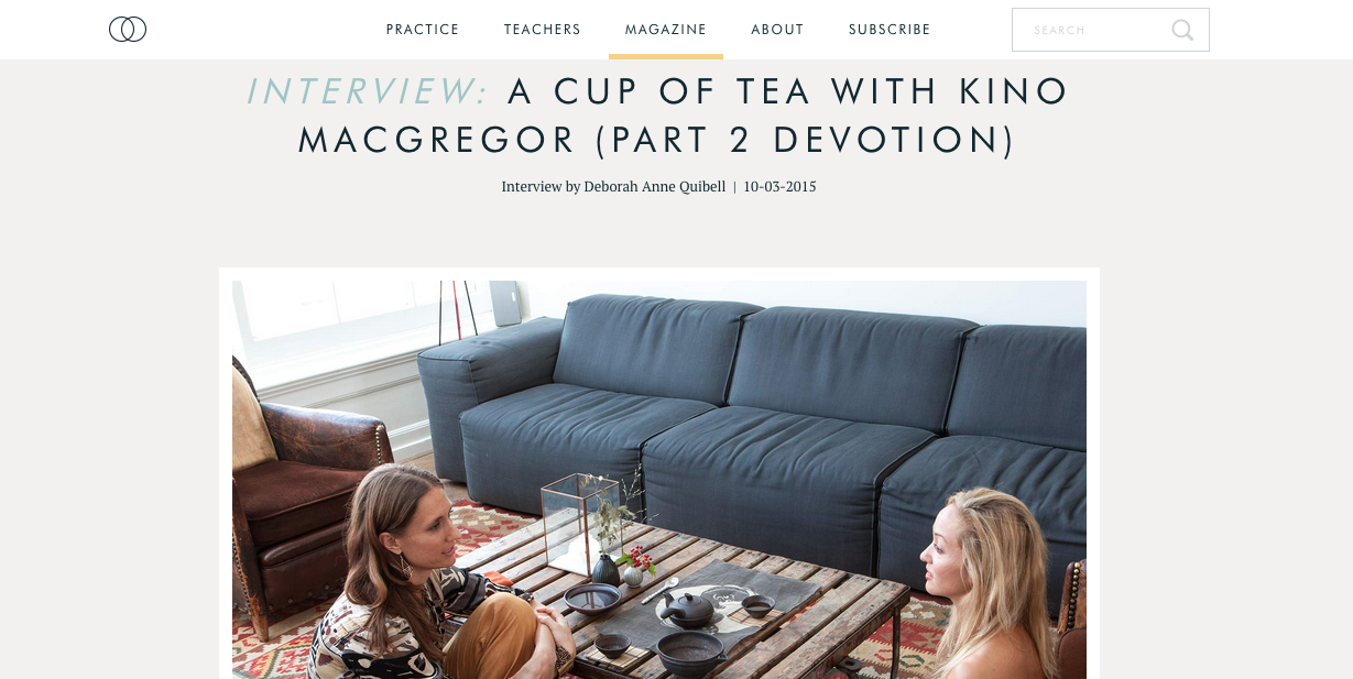 On Devotion : A Cup of Tea with Kino (Part 2)