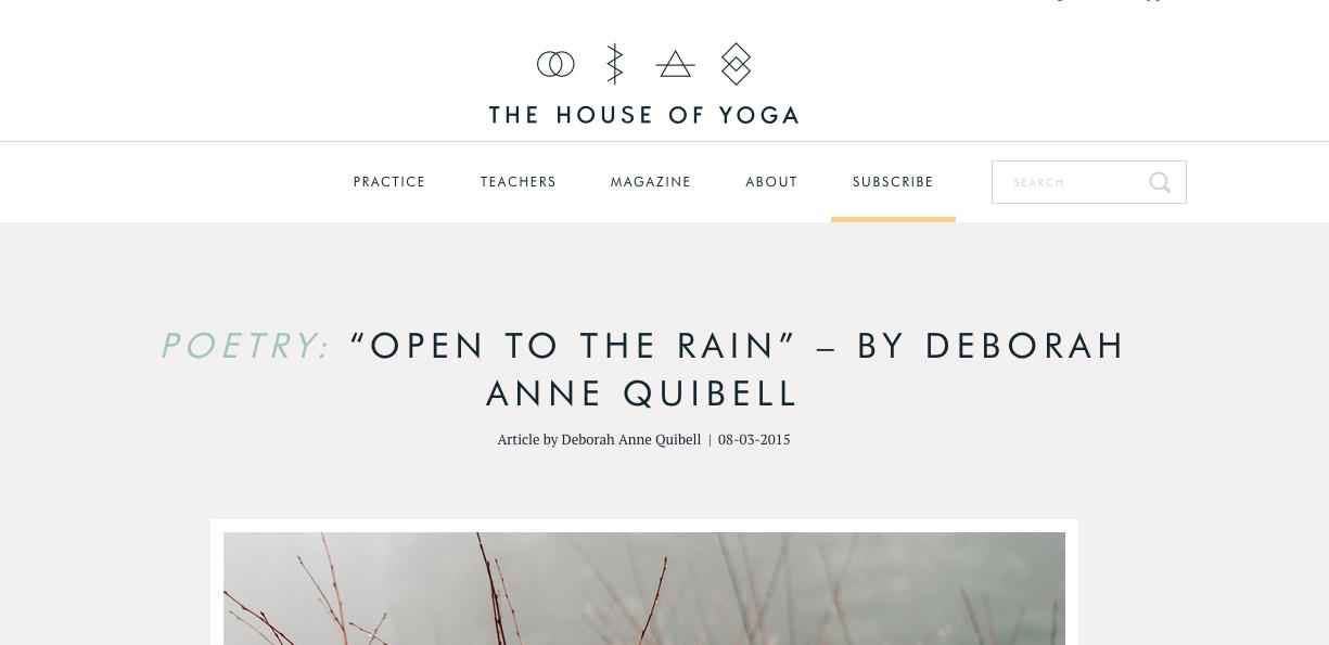 Open to the Rain