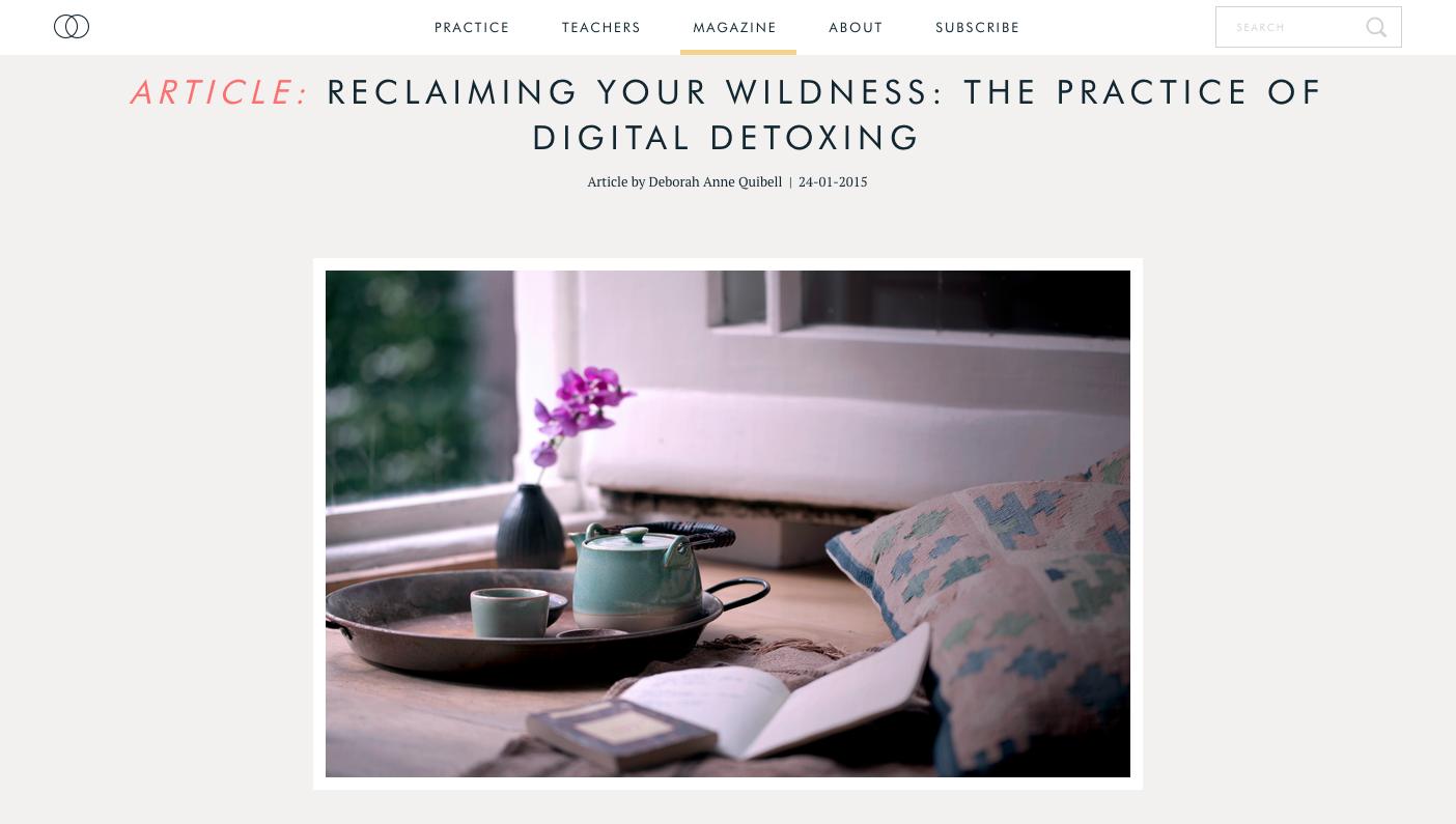 The Practice of Digital Detoxing