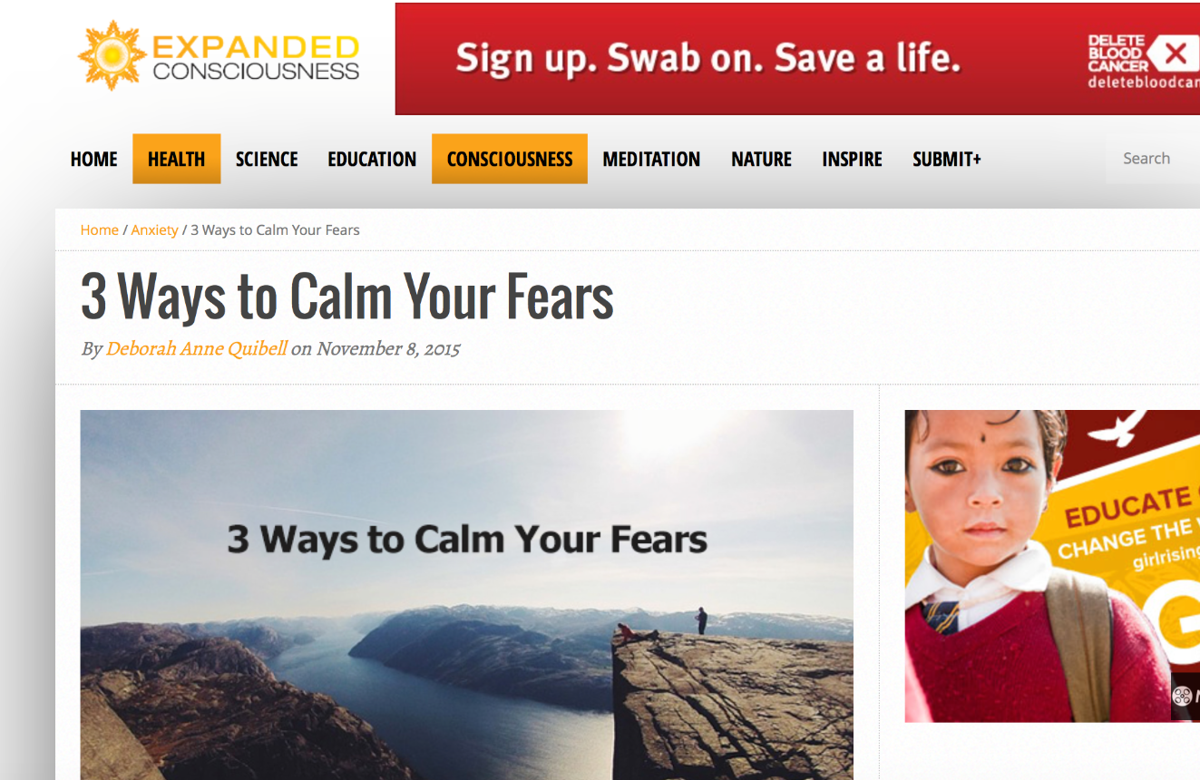 3 Ways to Calm Your Fears