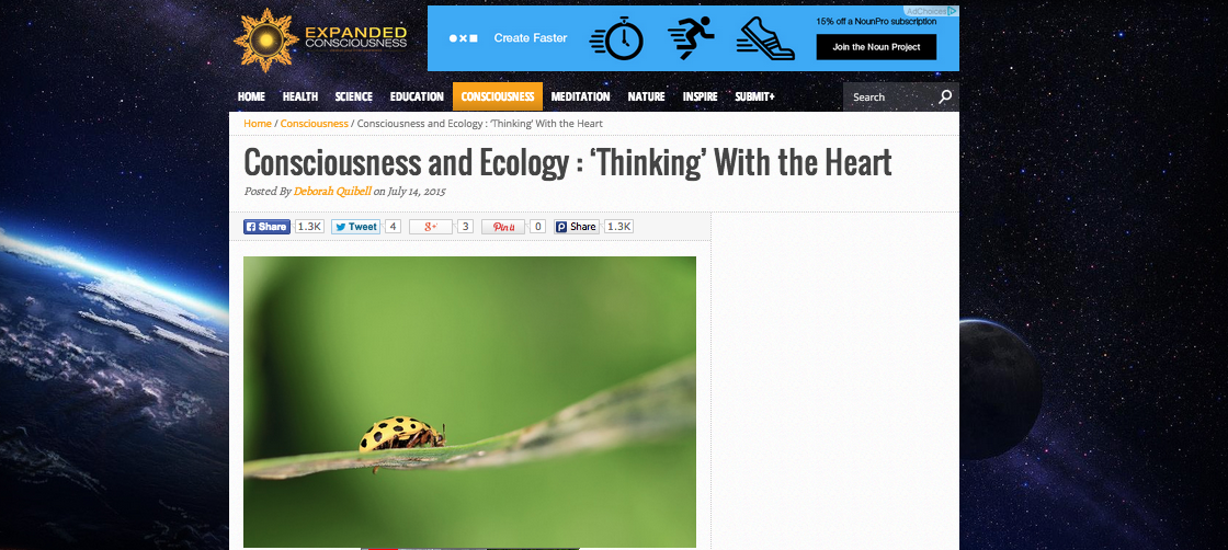 Consciousness and Ecology