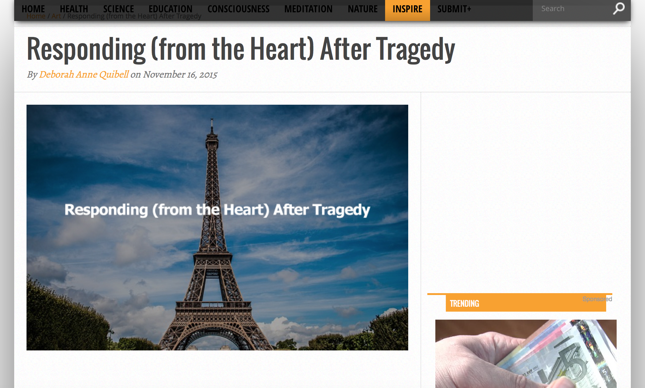 Responding (from the heart) After Tragedy
