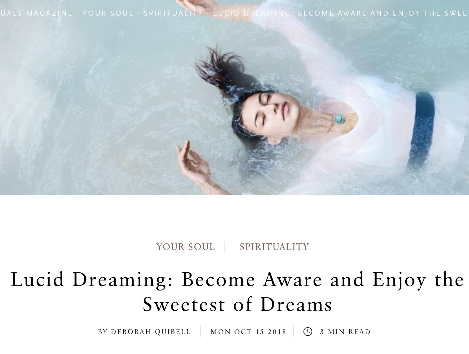 On Lucid Dreaming