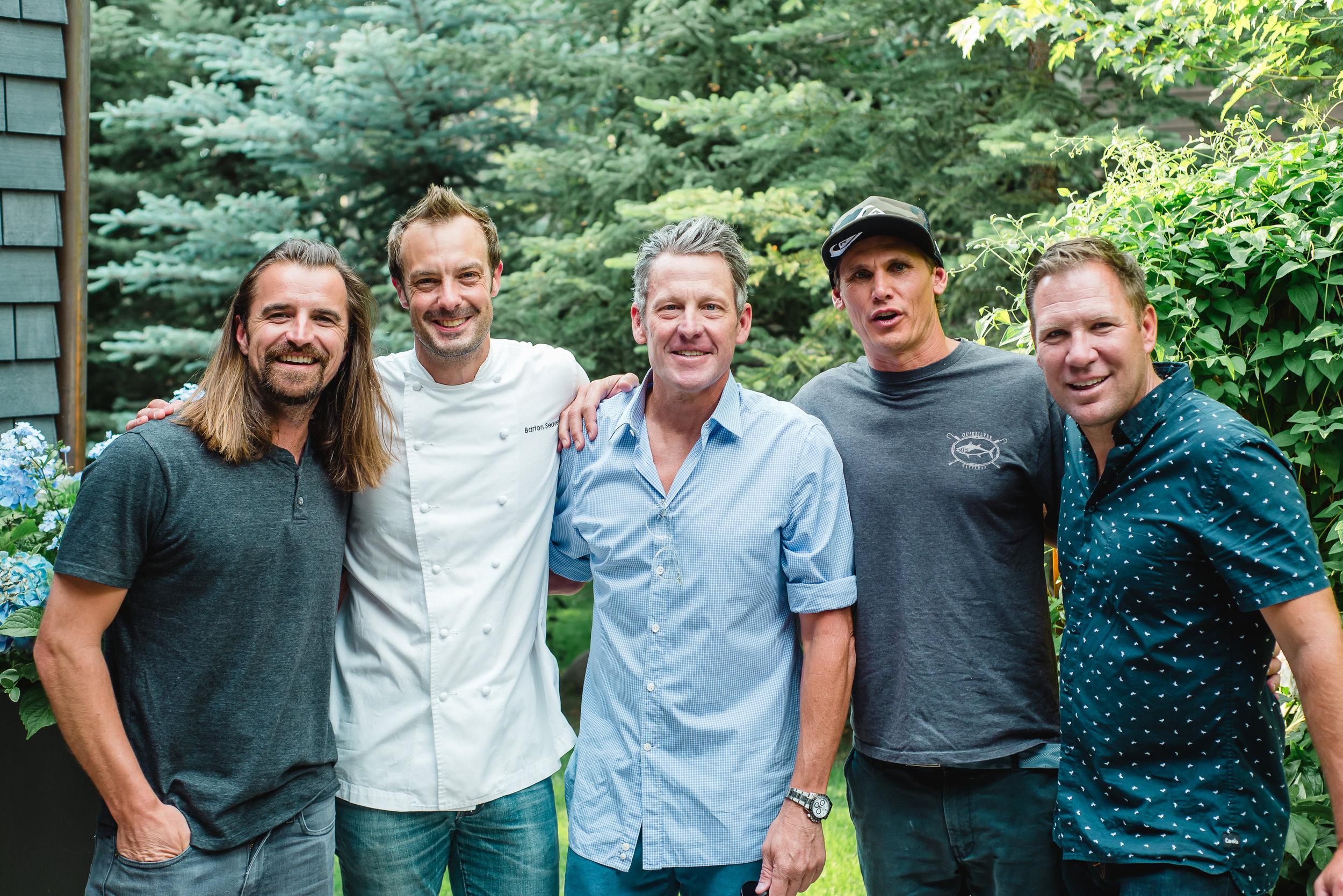 Eric Wolfinger, Barton Seaver Lance Armstrong, Jamie Mitchell, Robin Walker