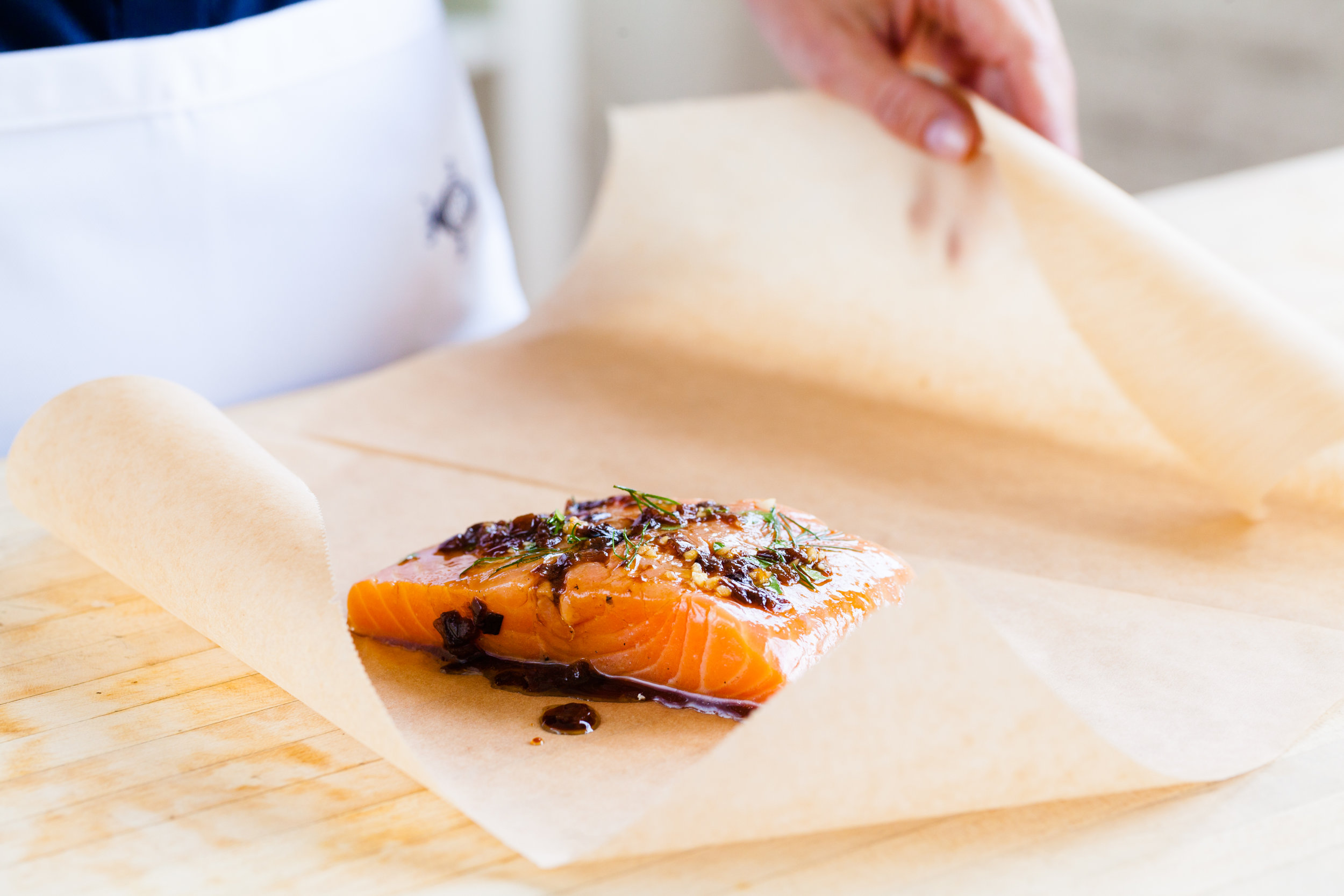 Salmon In Parchment Paper (En Papillote)