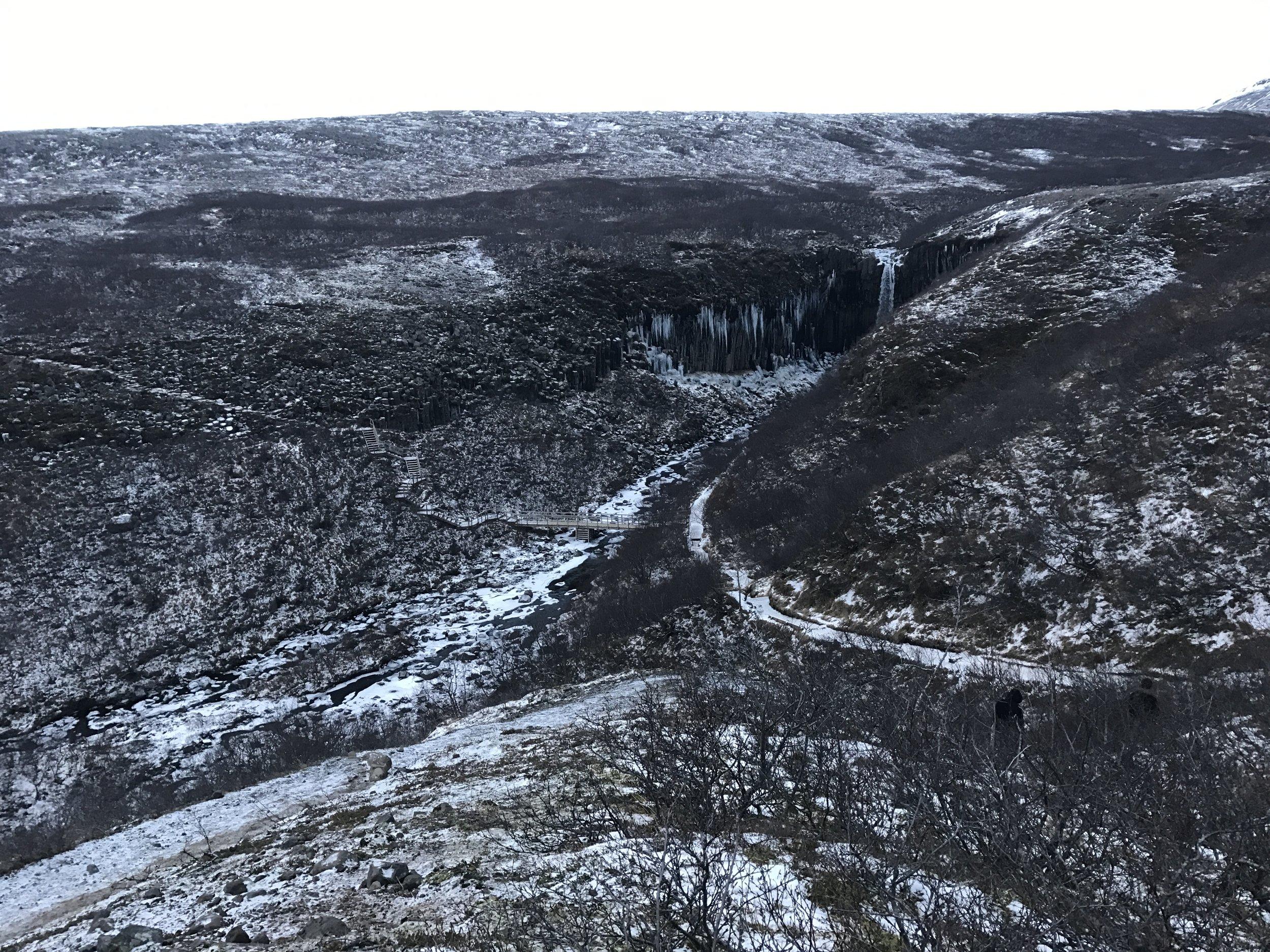 Skaftafell Waterfall Iceland