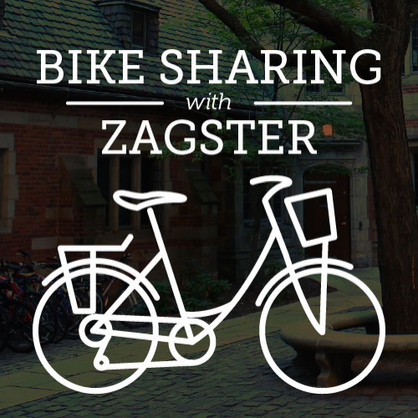 """In Spring 2013, YCC and Yale Transportation Options launched a pilot   bike sharing program  with Zagster. The program has 50 bicycles at   10 locations  called """"pods"""" around campus. The bicycles can be reserved online after students   register online  and pay a $20 annual membership fee. The fee can be waived after attending a   Bike Safety class  . Students can reserve bicycles at any of the locations, and must return them to the same location by midnight on the day of the reservation or pay a $30 late fee."""