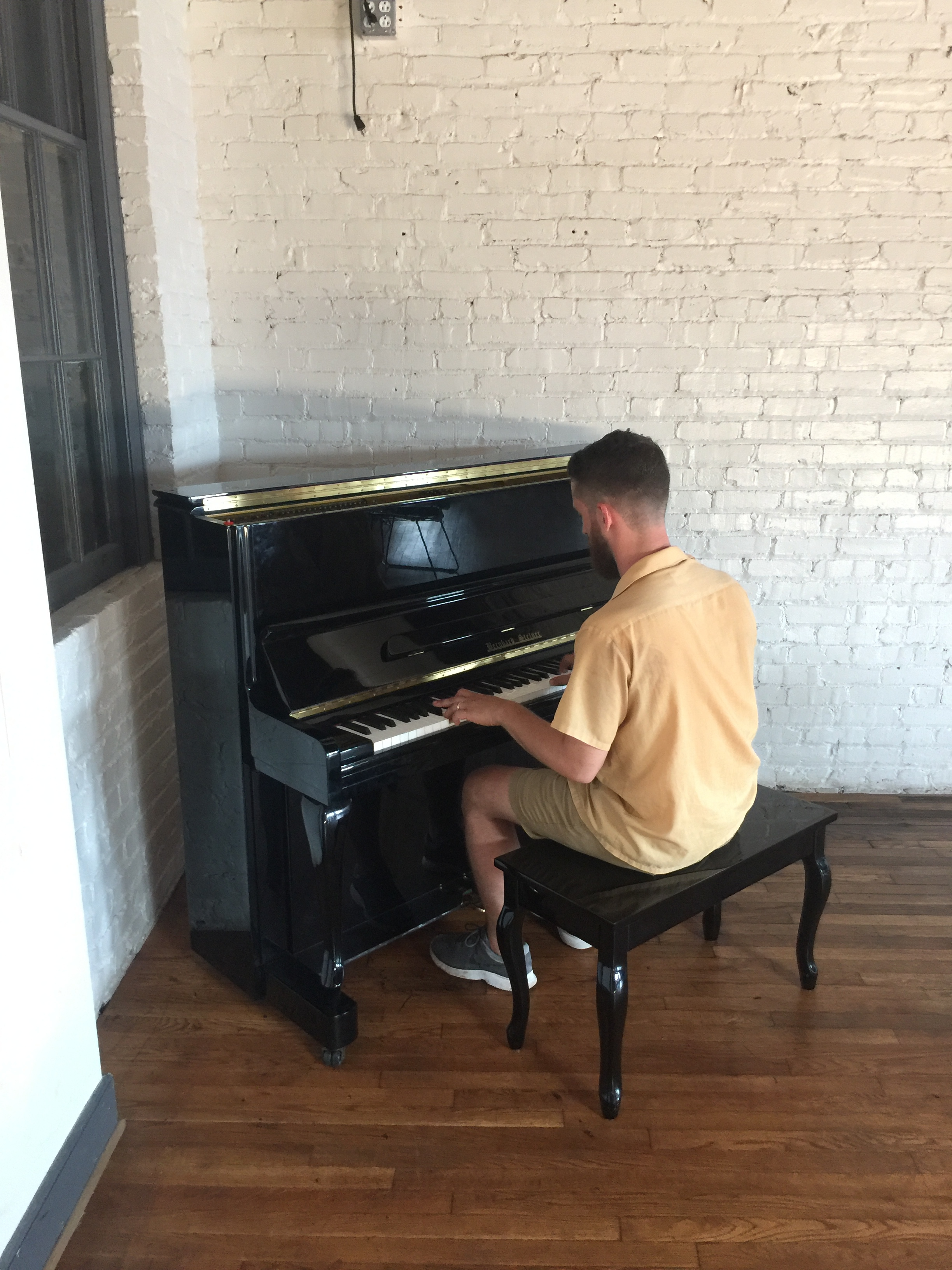 FEEL THE BERN - Bernie is a real piano who needs love from CRRVA musicians at the Hof!