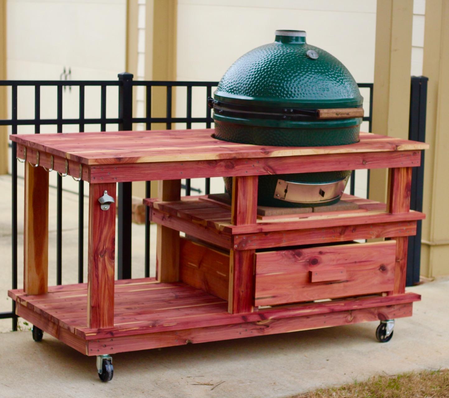 eastern red cedar grill table