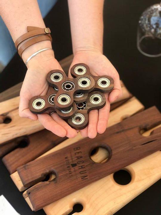 walnut fidget spinners