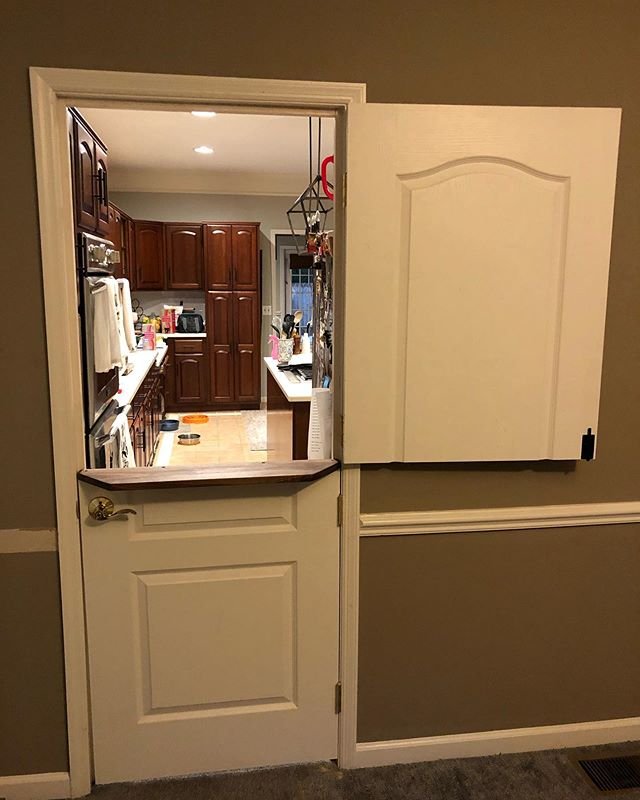Felt good to get back in the shop and knock out this dutch door project in just a few hours! Swipe 👉 to see the before and more shots. This was one of those rare projects that only required one Home Depot trip and from start to finish everything was done in just a few hours.  #woodworking #woodwork #wood #workshop #diy #dowoodworking #handmade #woodworker #alabama #BirminghamAL #instagrambham #TeamRidgid