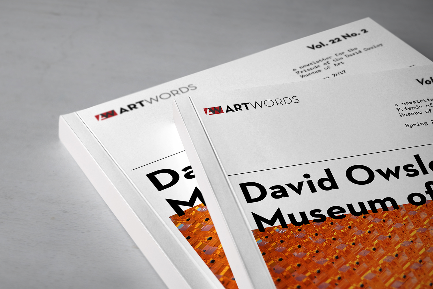 artwords - brand identity + publication redesign