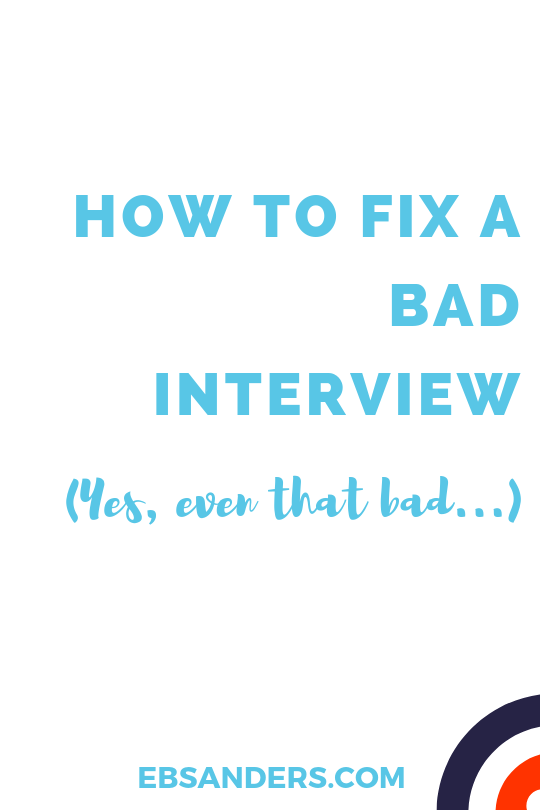 bad interview fixes