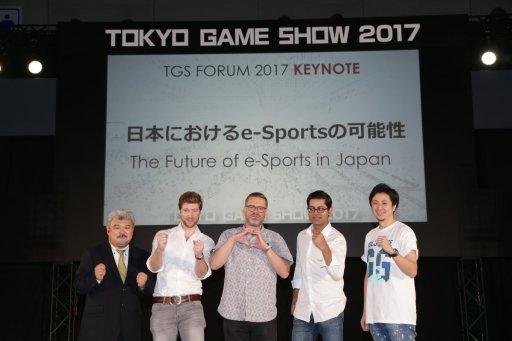 Takeyoshi Yamada (Nikkei Technology Online), Pieter van den Heuvel (NEWZOO Market Analyst), Nate Nanzer (Blizzard Entertainment), Me, Shingo Otomo (CyberZ)
