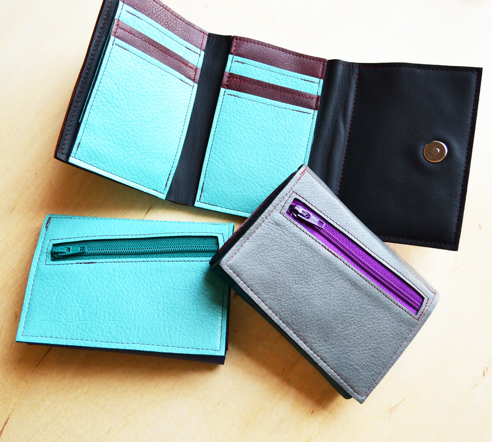 Frances Trifold Leather Wallets for Women