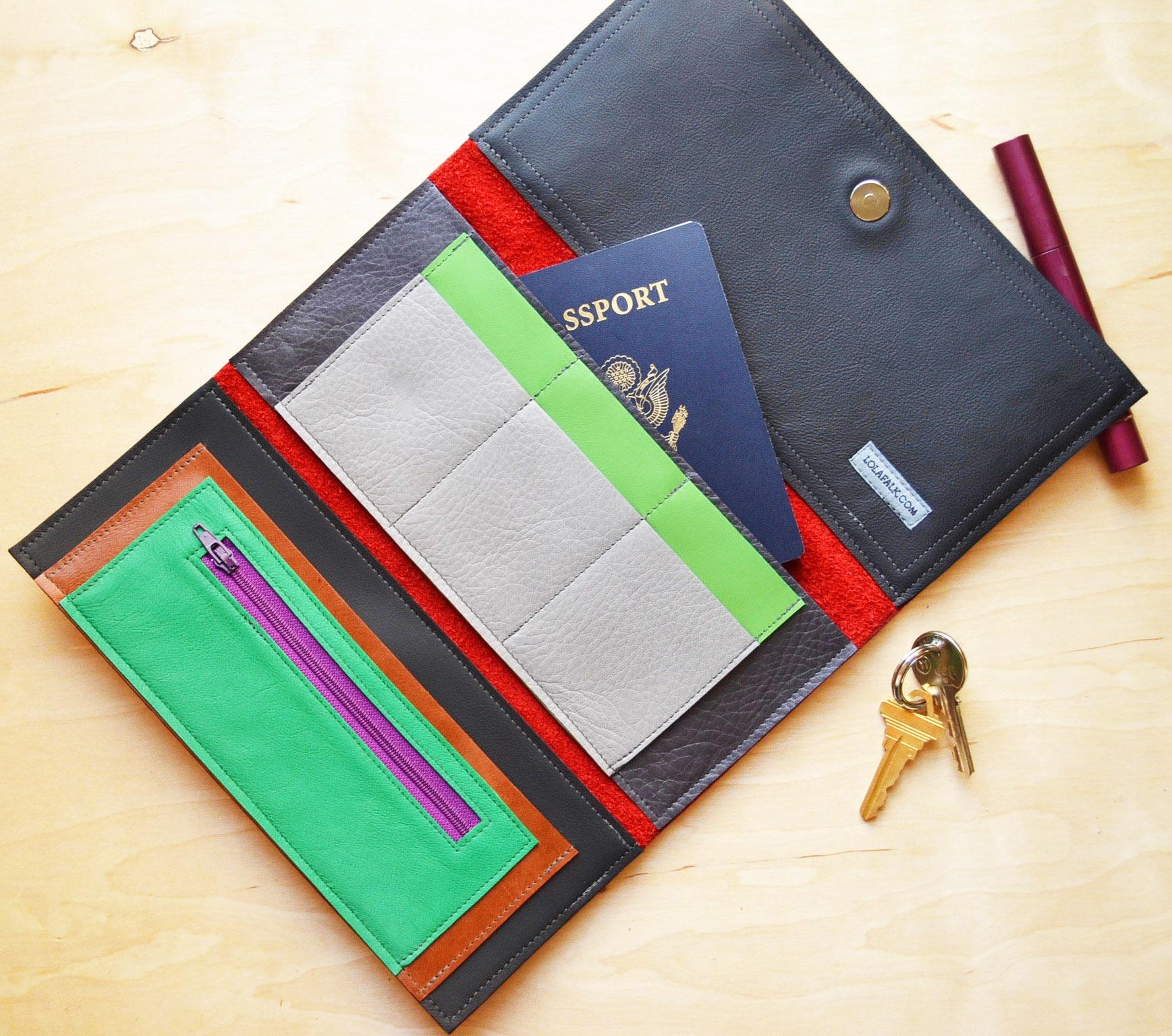 Stella Travel Wallet Interior with passport