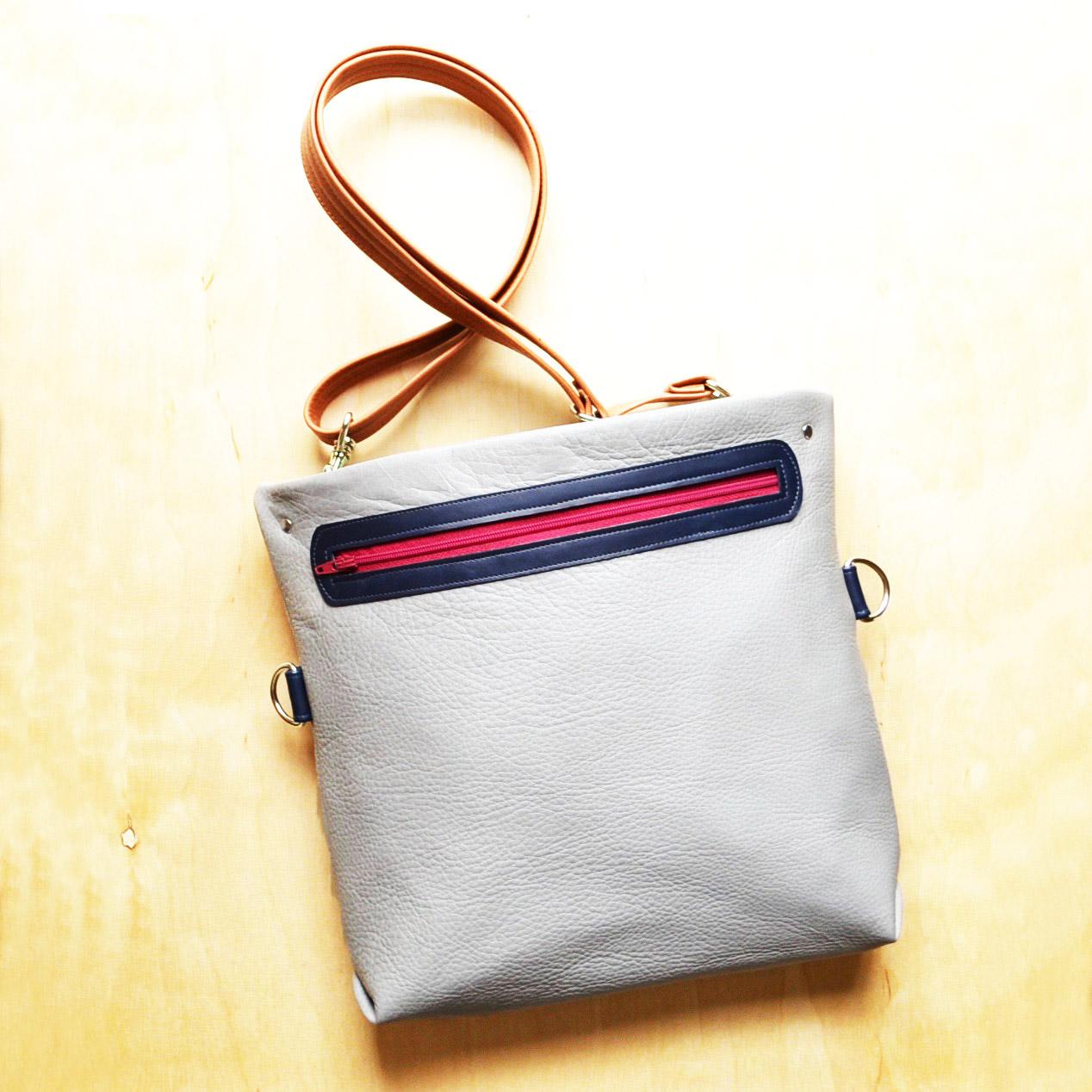 Abby Crossbody Satchel Bag in Dior Grey