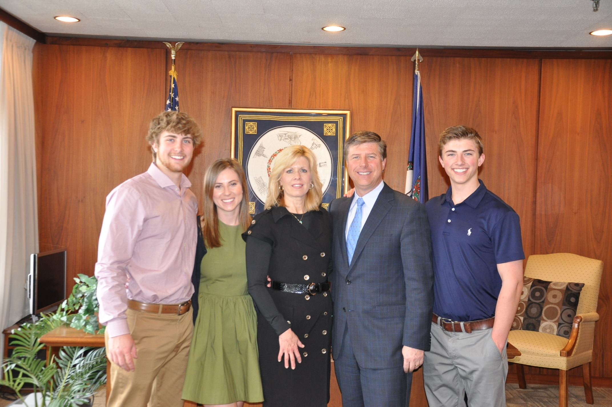 Click here to learn more about Steve.  Pictured Left To Right: Tyler, Callie Bradley, Kim, Steve and Wesley.