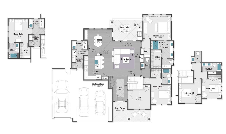 Main Level with Optional Casita - 2,119 Square Feet